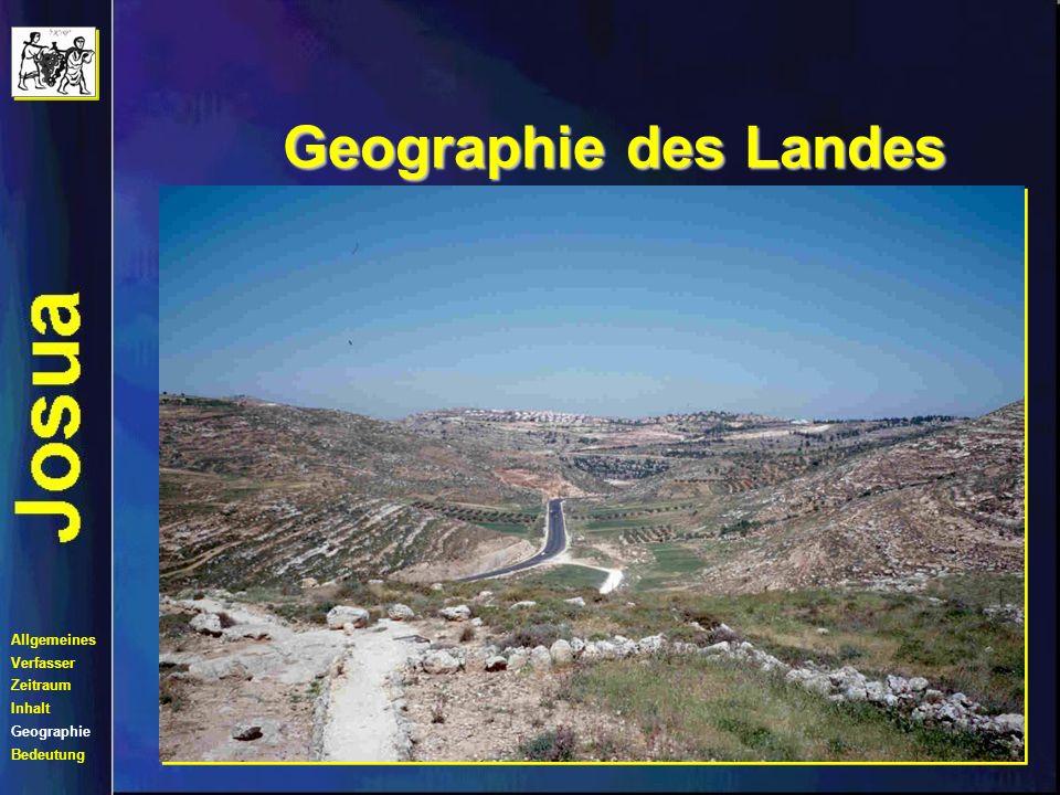 Geographie des Landes Der Einzug in das Land Allgemeines Verfasser