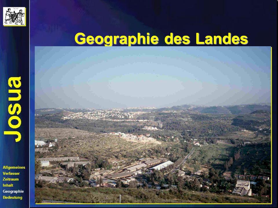 Geographie des Landes Kampf um Süd-Kanaan Allgemeines Verfasser
