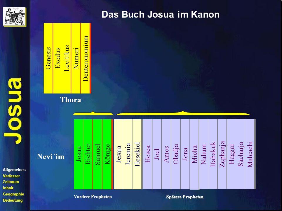 Das Buch Josua im Kanon Thora Nevi´im Genesis Exodus Levitikus Numeri