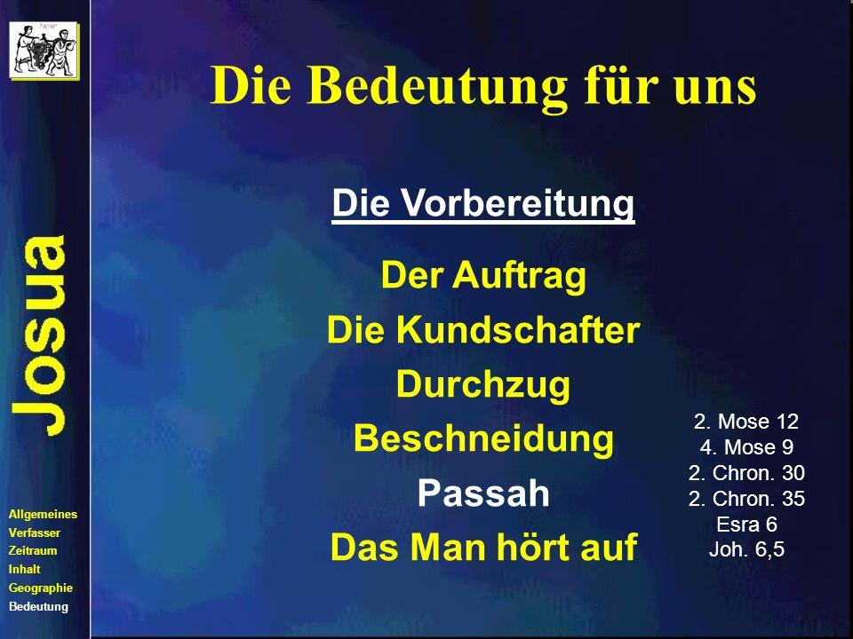 2. Mose 12 4. Mose 9 2. Chron. 30 2. Chron. 35 Esra 6 Joh. 6,5