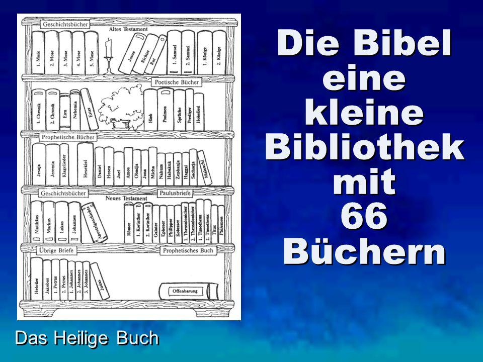 Die Bibel eine kleine Bibliothek mit 66 Büchern