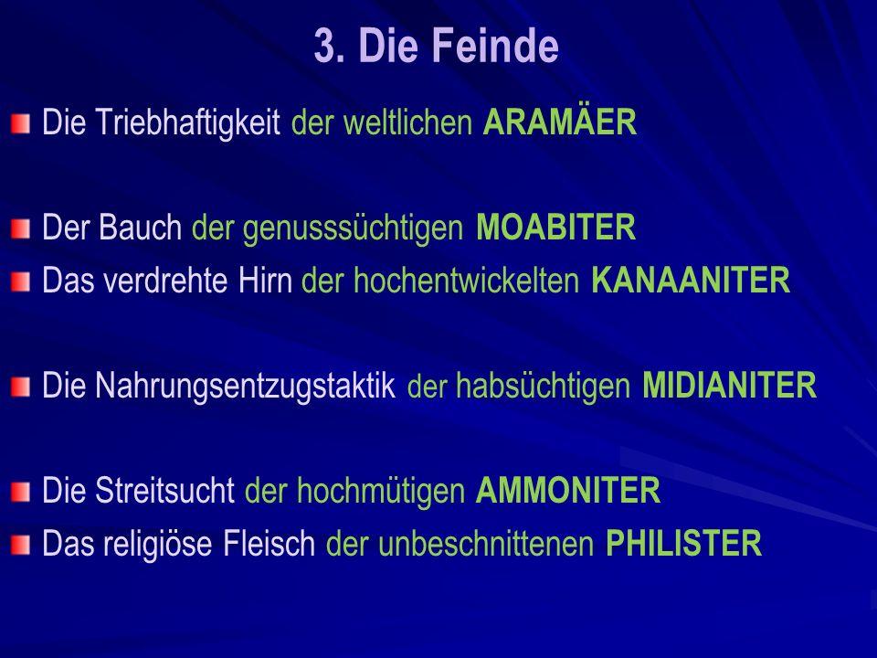 3. Die Feinde Die Triebhaftigkeit der weltlichen ARAMÄER