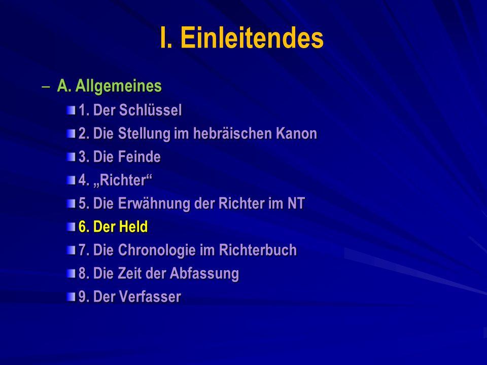 I. Einleitendes A. Allgemeines 1. Der Schlüssel