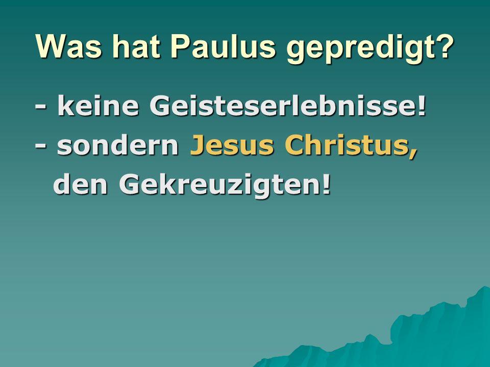 Was hat Paulus gepredigt