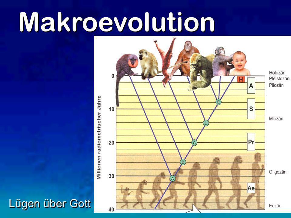 Makroevolution Lügen über Gott