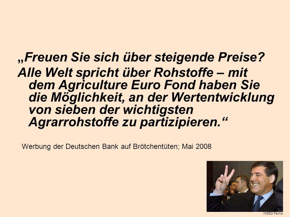 Werbung der Deutschen Bank auf Brötchentüten; Mai 2008