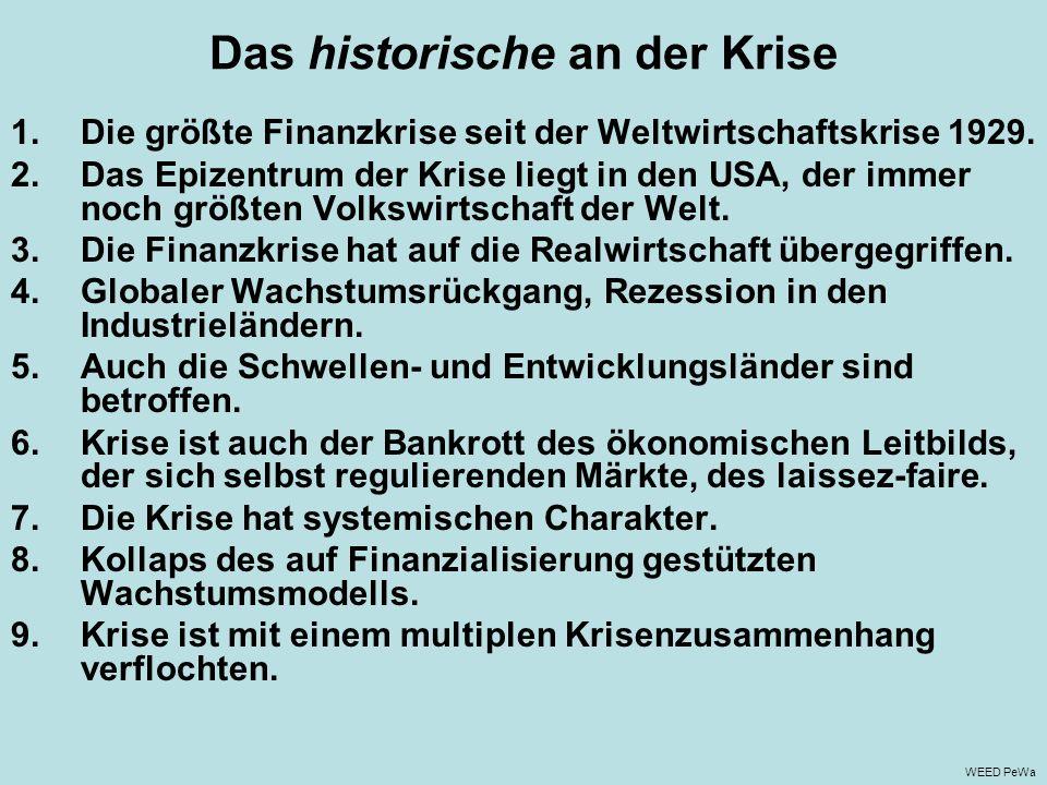 Das historische an der Krise
