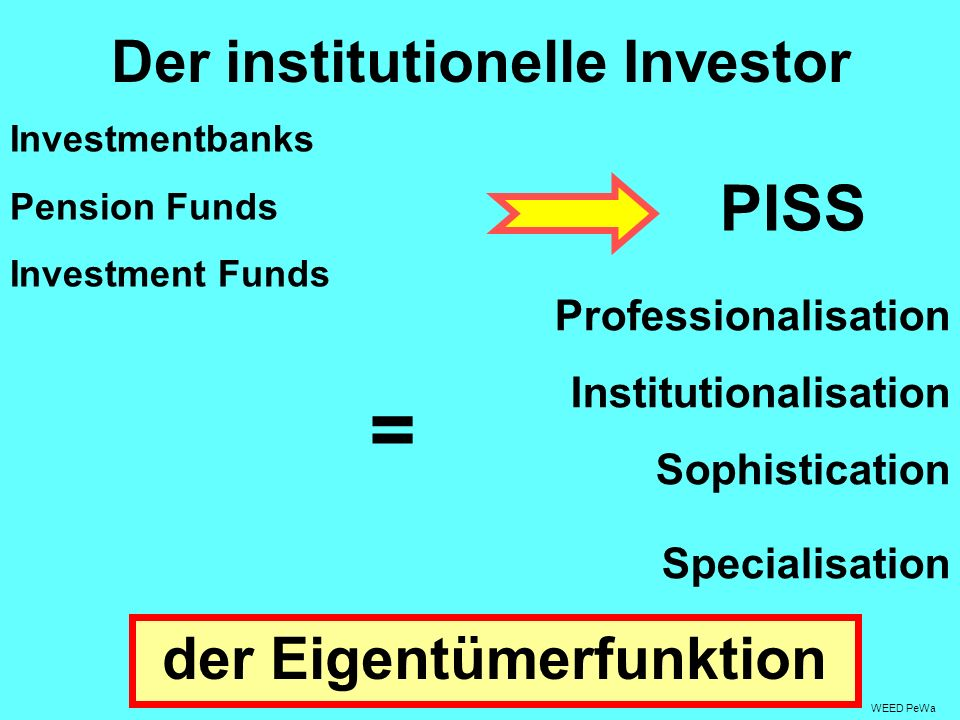 Der institutionelle Investor