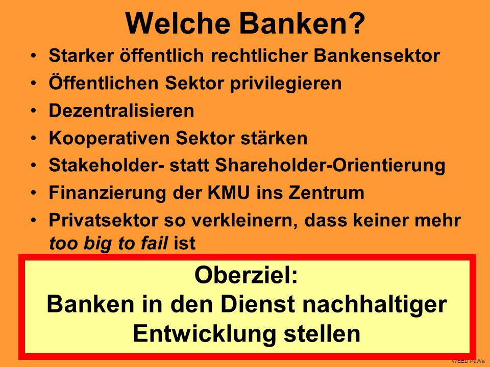 Oberziel: Banken in den Dienst nachhaltiger Entwicklung stellen