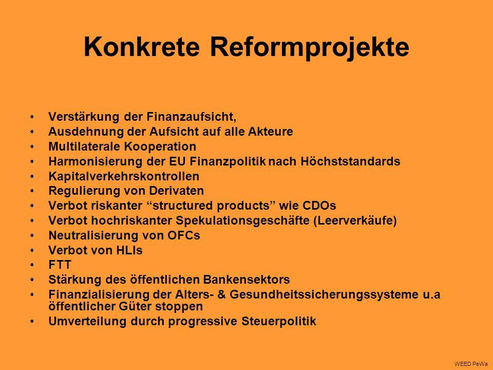 Konkrete Reformprojekte