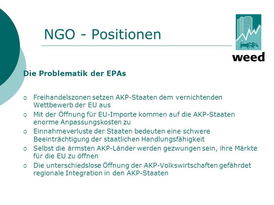 NGO - Positionen Die Problematik der EPAs