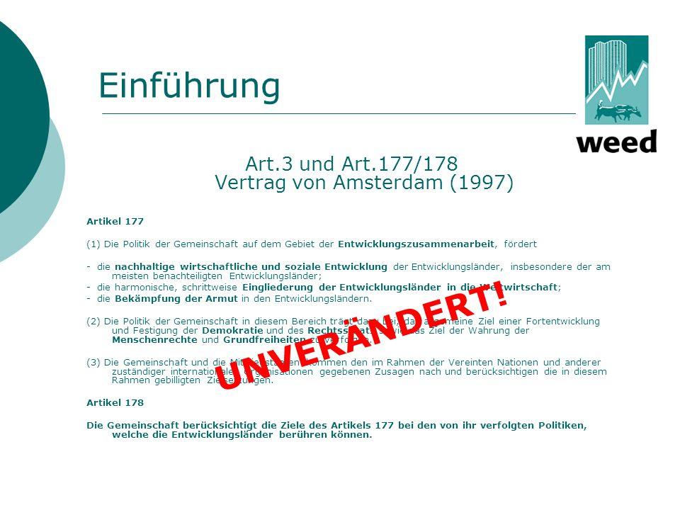 Art.3 und Art.177/178 Vertrag von Amsterdam (1997)