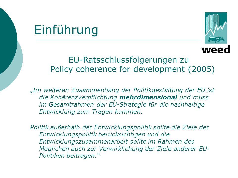 EU-Ratsschlussfolgerungen zu Policy coherence for development (2005)