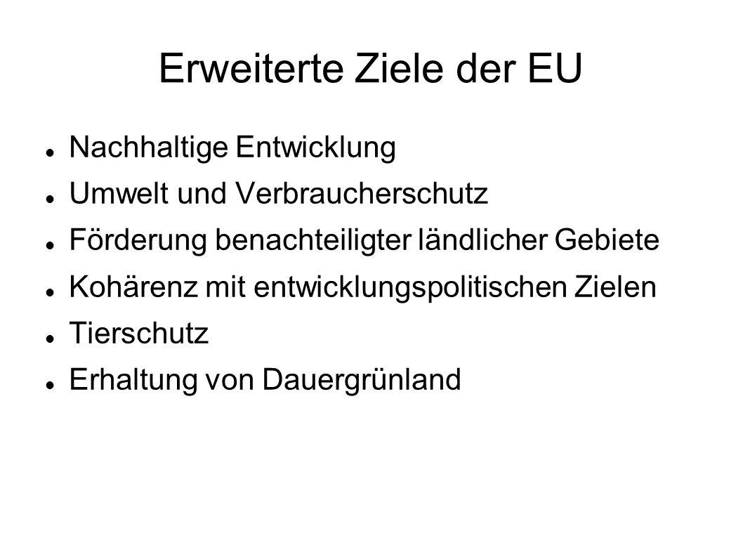 Erweiterte Ziele der EU
