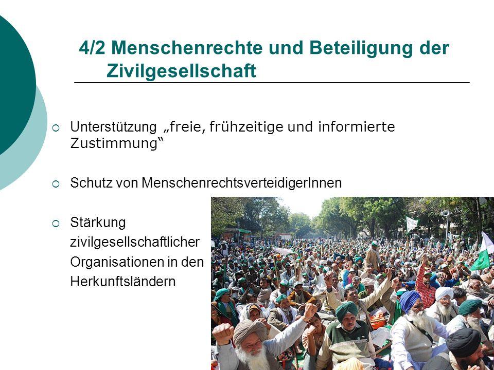 4/2 Menschenrechte und Beteiligung der Zivilgesellschaft