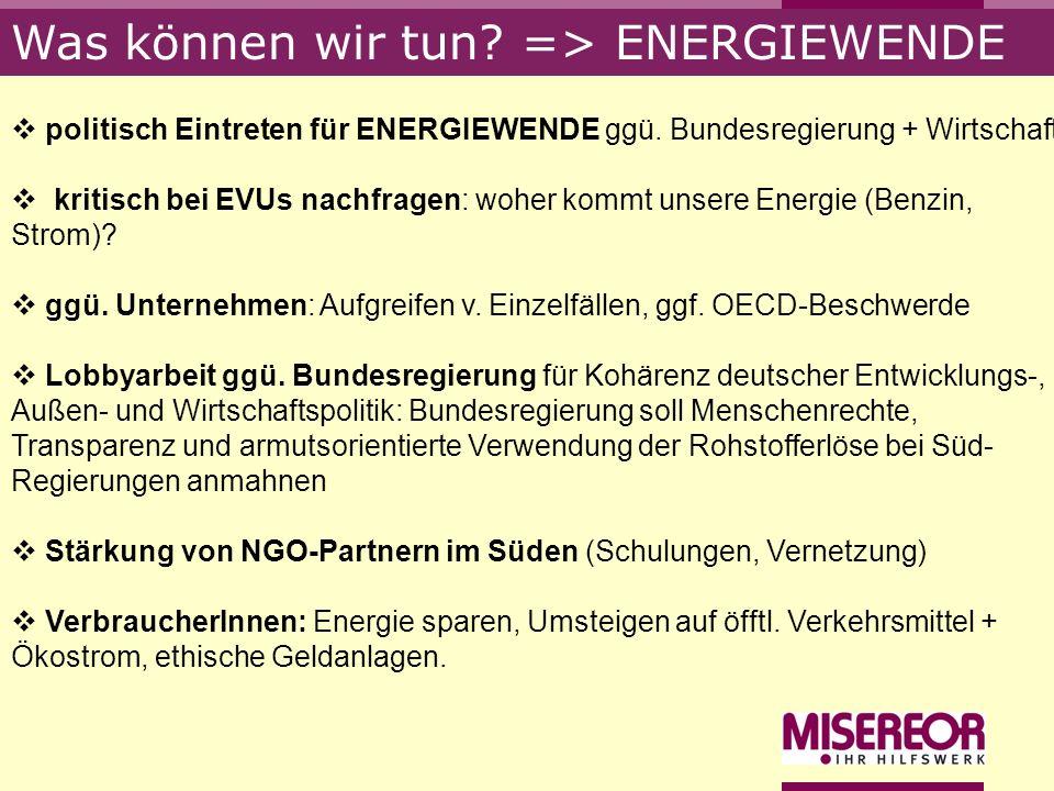 Was können wir tun => ENERGIEWENDE
