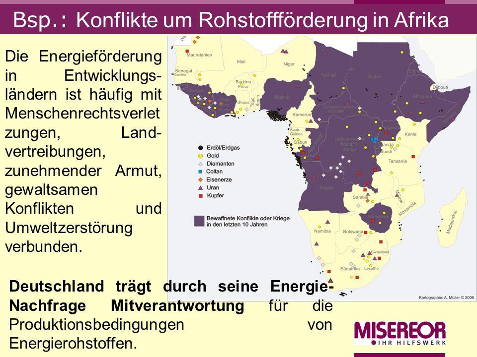 Bsp.: Konflikte um Rohstoffförderung in Afrika
