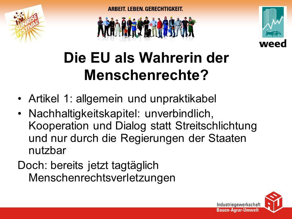 Die EU als Wahrerin der Menschenrechte