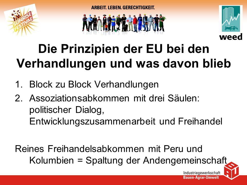 Die Prinzipien der EU bei den Verhandlungen und was davon blieb