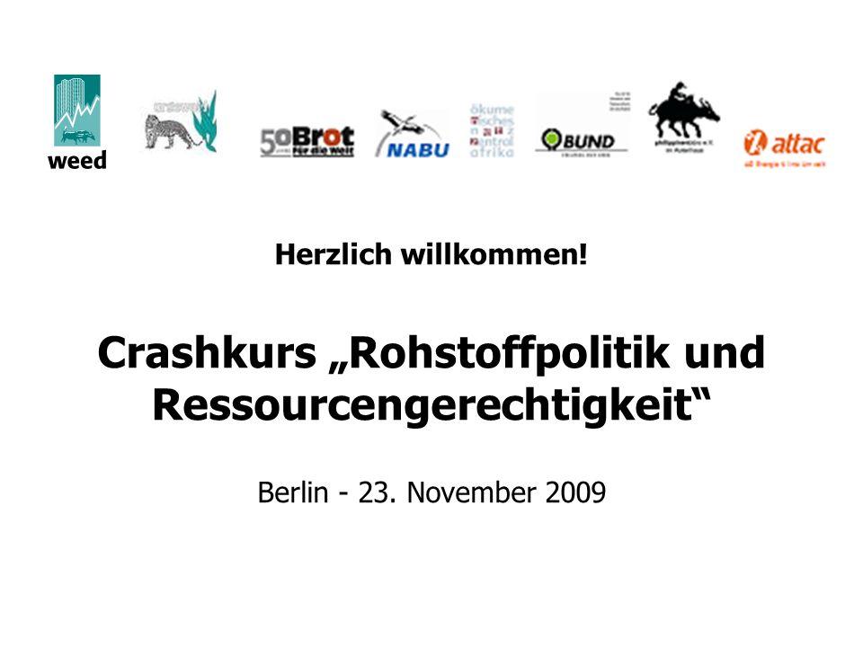 """Crashkurs """"Rohstoffpolitik und Ressourcengerechtigkeit"""
