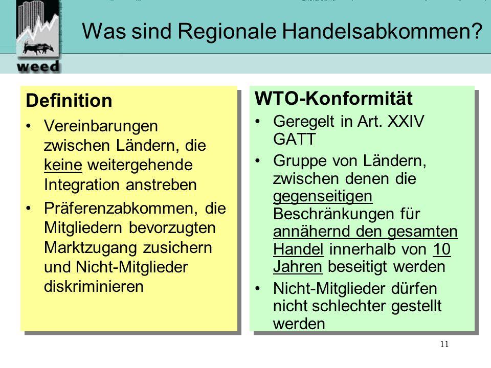 Was sind Regionale Handelsabkommen