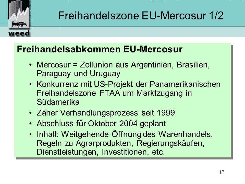 Freihandelszone EU-Mercosur 1/2