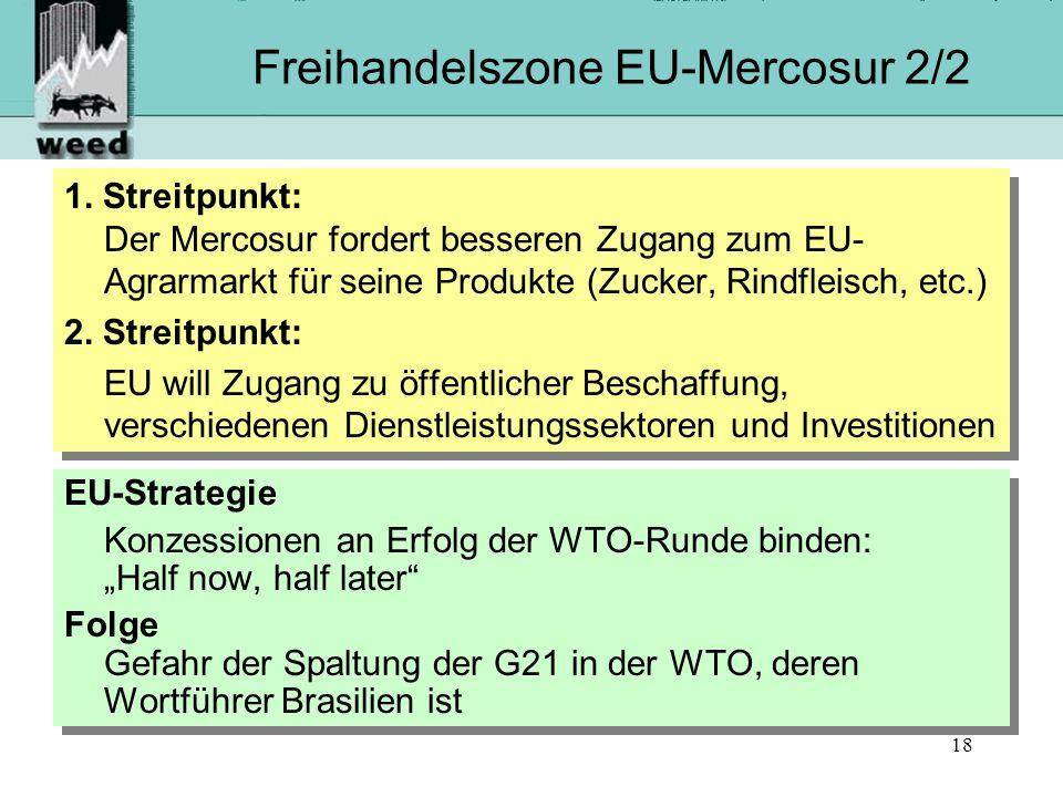 Freihandelszone EU-Mercosur 2/2