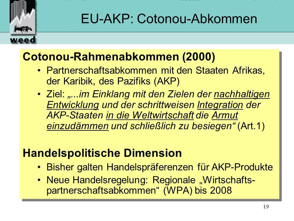 EU-AKP: Cotonou-Abkommen