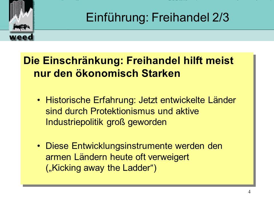 Einführung: Freihandel 2/3