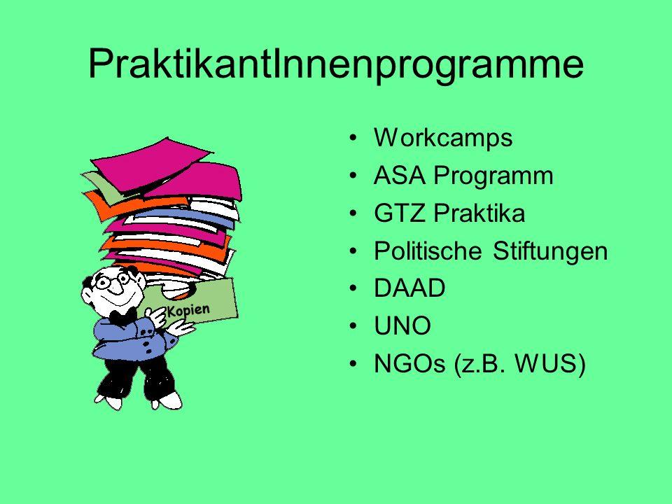 PraktikantInnenprogramme