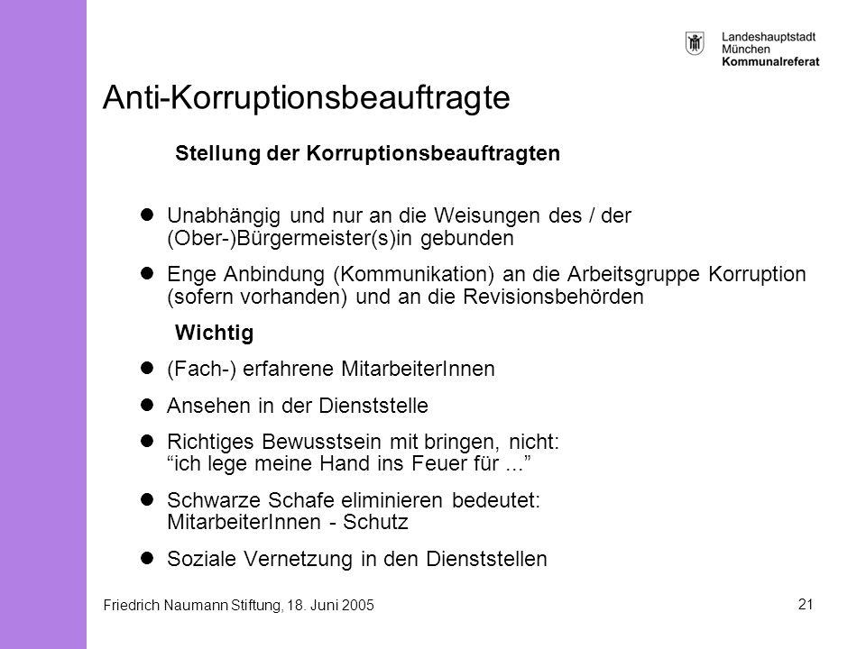 Anti-Korruptionsbeauftragte