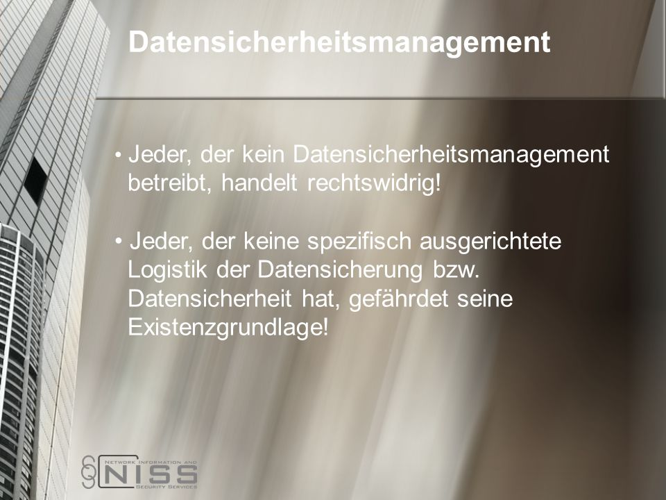 Datensicherheitsmanagement