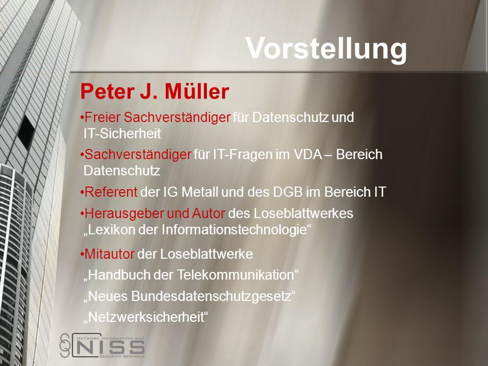 Vorstellung Peter J. Müller