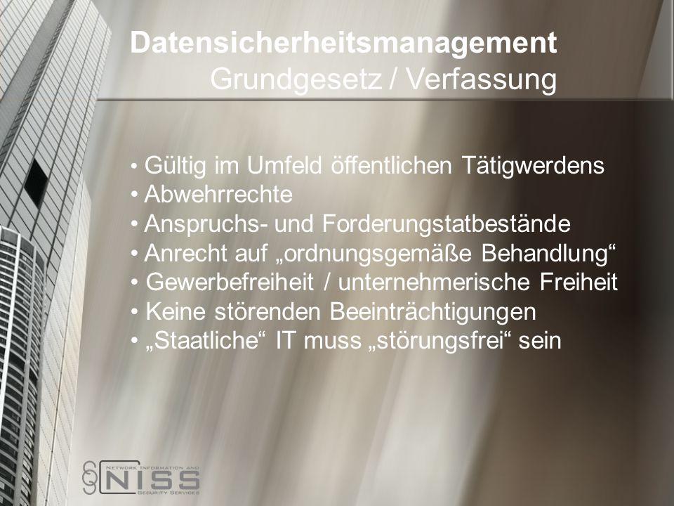 Datensicherheitsmanagement Grundgesetz / Verfassung