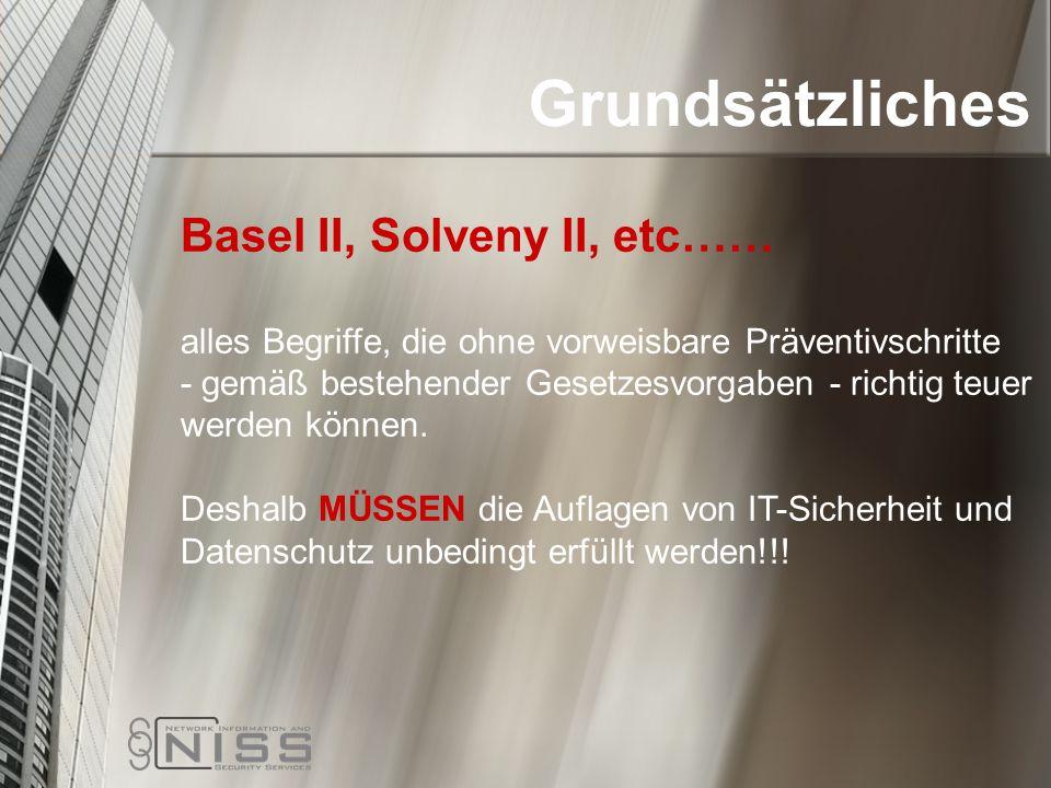 Grundsätzliches Basel II, Solveny II, etc……