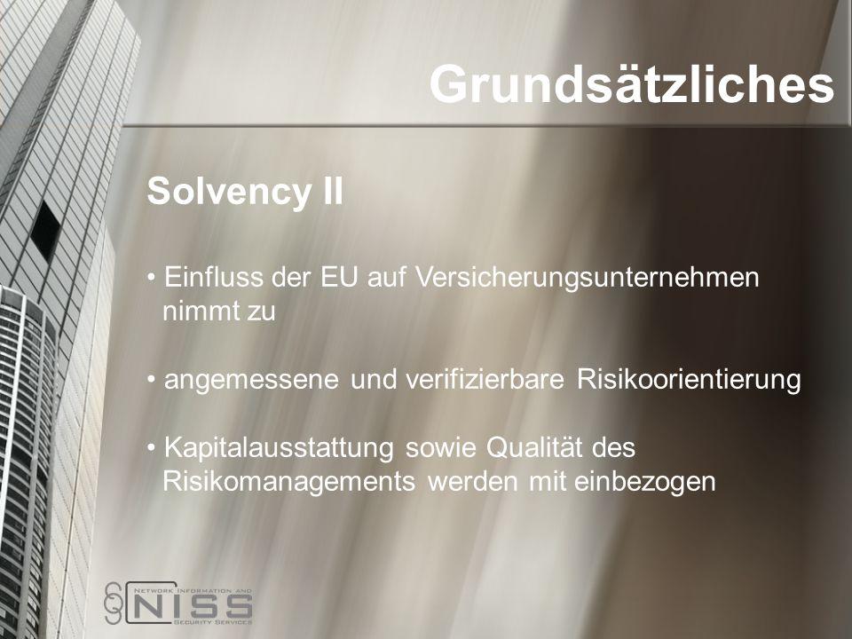 Grundsätzliches Solvency II