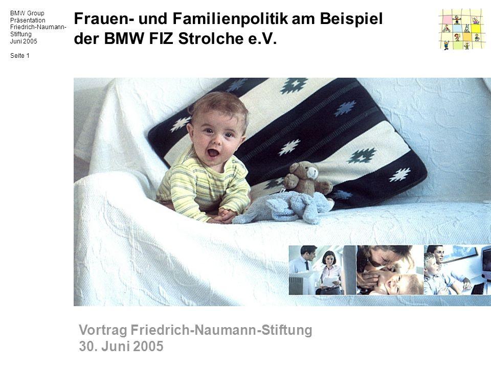 Frauen- und Familienpolitik am Beispiel der BMW FIZ Strolche e.V.