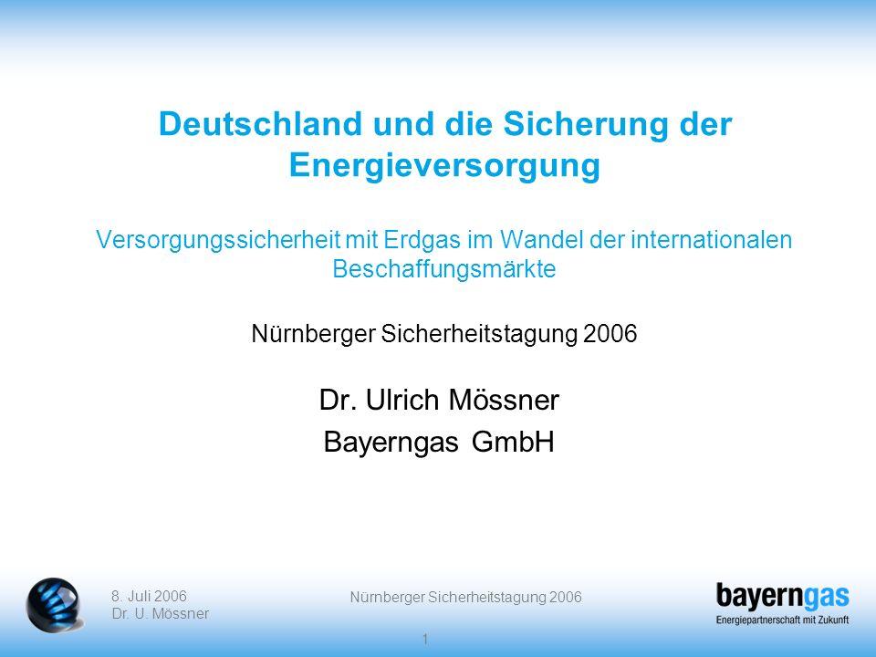 Dr. Ulrich Mössner Bayerngas GmbH