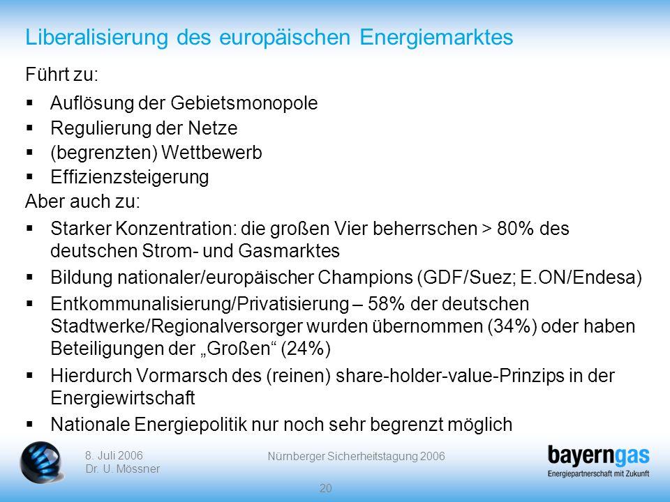 Liberalisierung des europäischen Energiemarktes