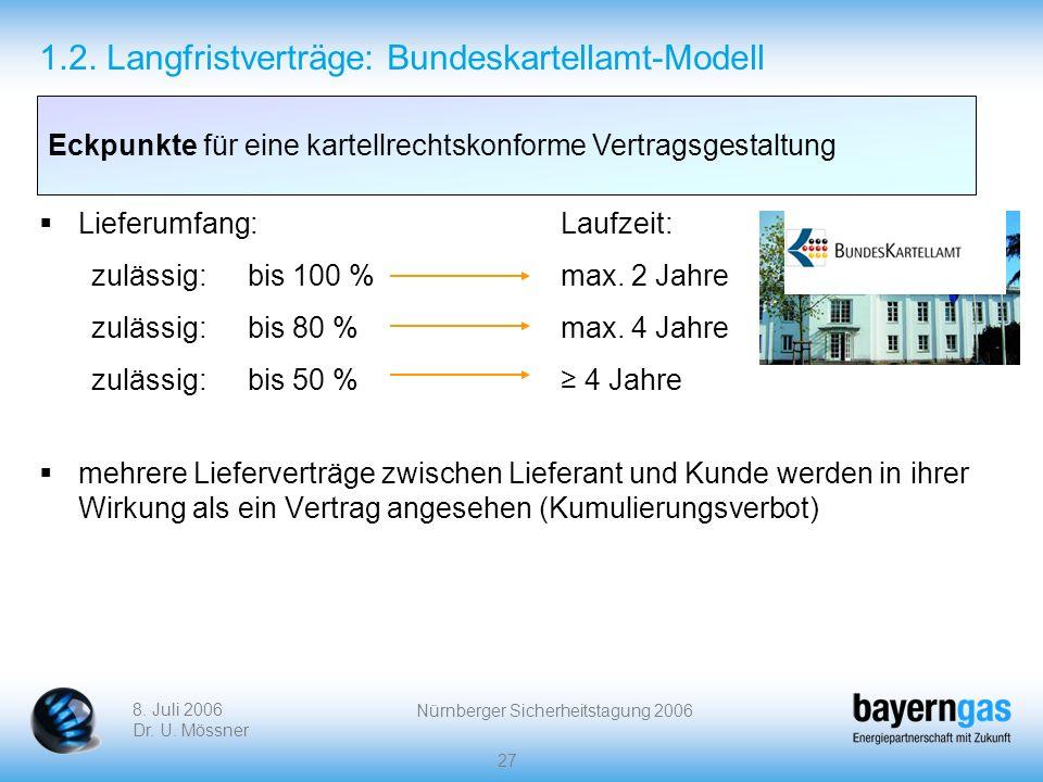 1.2. Langfristverträge: Bundeskartellamt-Modell