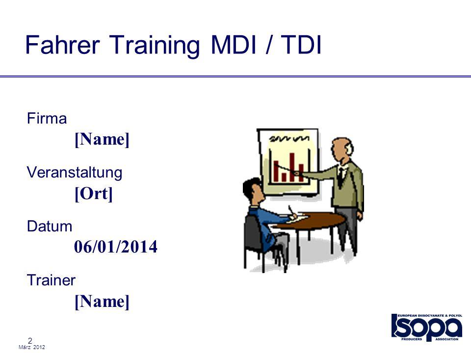 Fahrer Training MDI / TDI