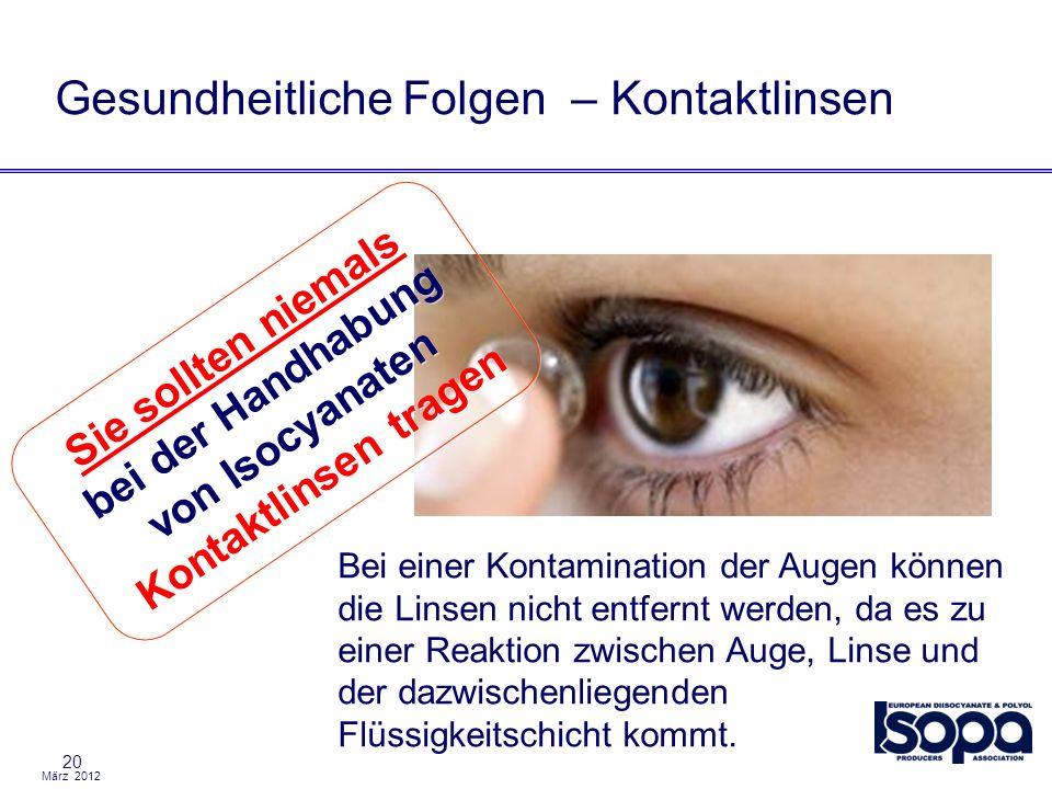 Gesundheitliche Folgen – Kontaktlinsen