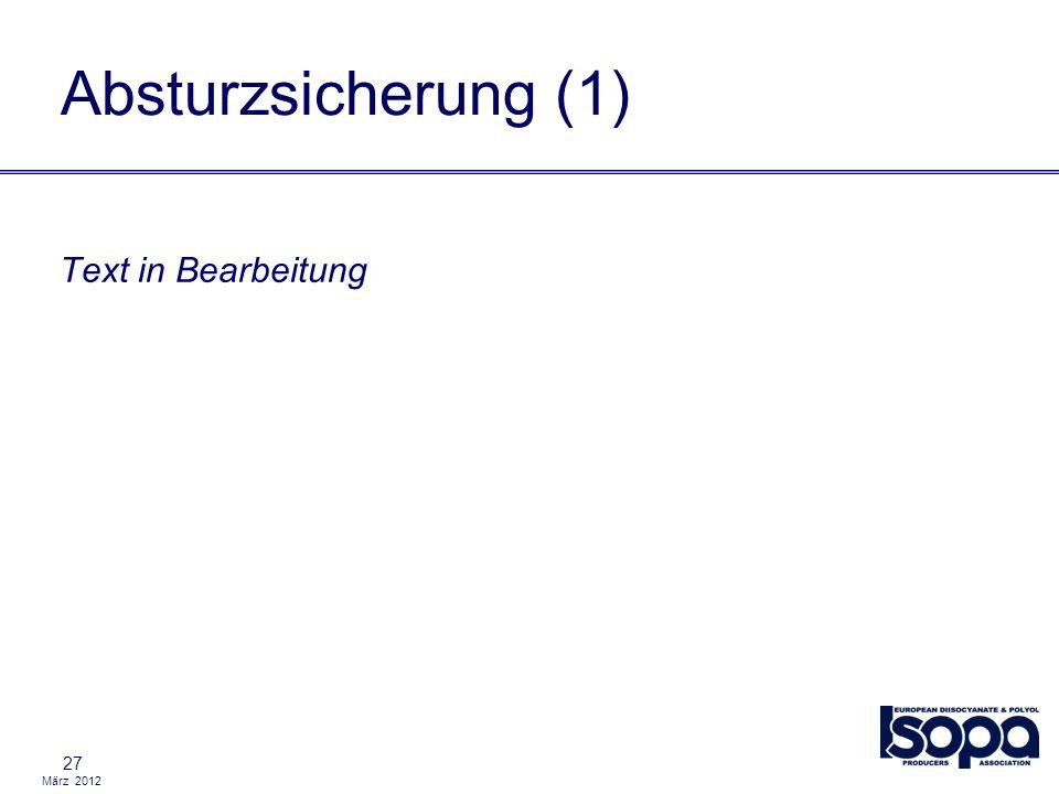 Absturzsicherung (1) Text in Bearbeitung 27