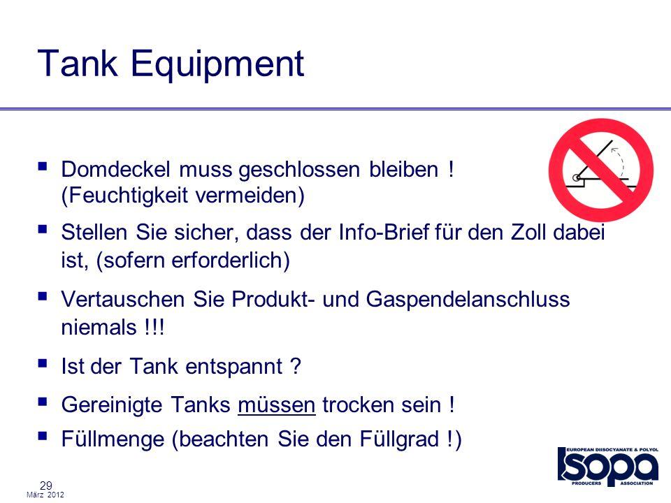 Tank Equipment Domdeckel muss geschlossen bleiben ! (Feuchtigkeit vermeiden)