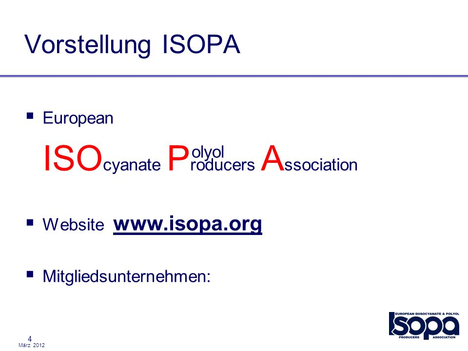 ISOcyanate Producers Association