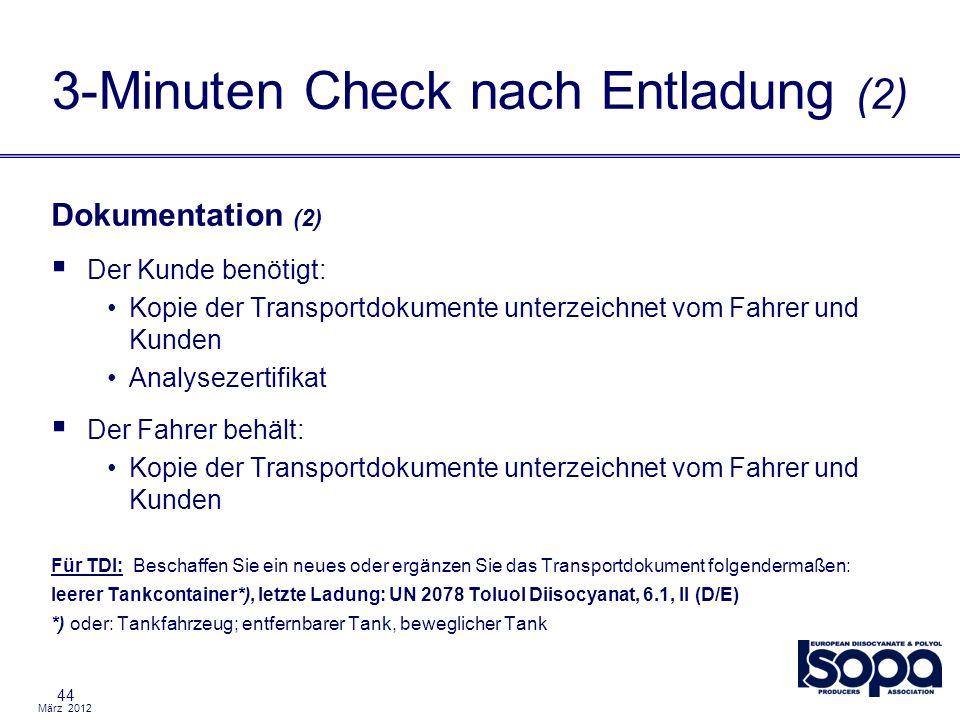 3-Minuten Check nach Entladung (2)
