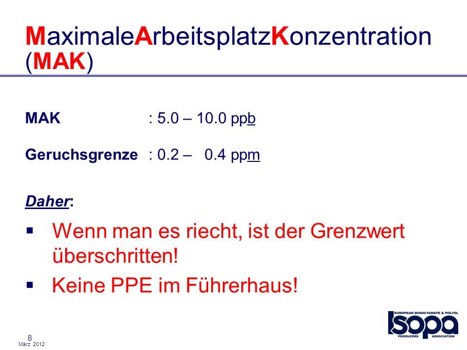 MaximaleArbeitsplatzKonzentration (MAK)