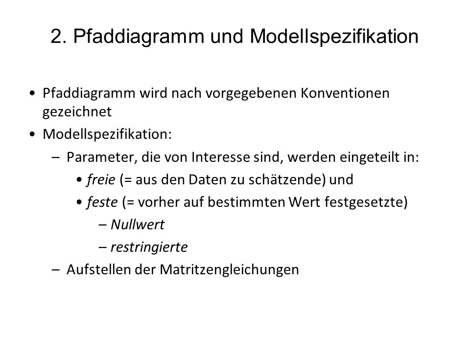 2. Pfaddiagramm und Modellspezifikation