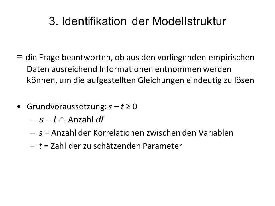 3. Identifikation der Modellstruktur