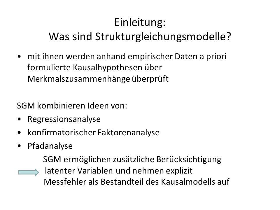 Einleitung: Was sind Strukturgleichungsmodelle